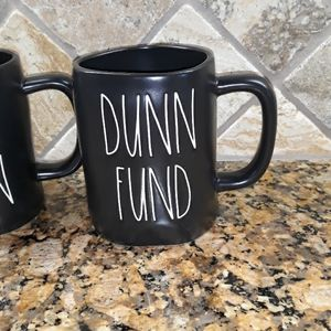 Rae Dunn Dining - Rae Dunn NEVER DUNN& DUNN FUND Mugs